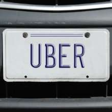Uber license plate