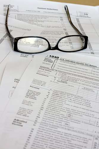 tax forms photo