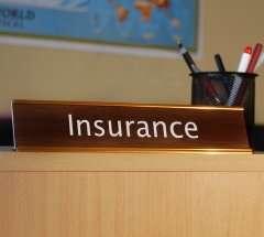 insurance desk sign