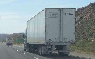 Truck on highway in Utah 2