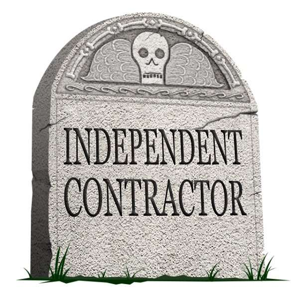 gravestone of independent contractor