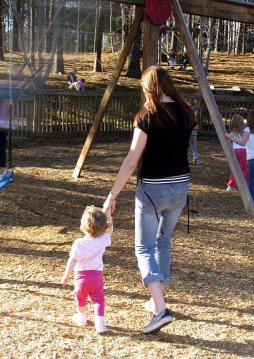 babysitter with child