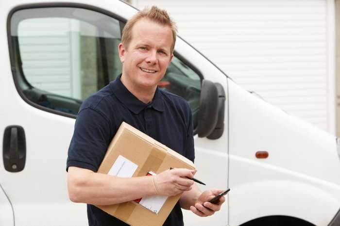 delivery driver or courier