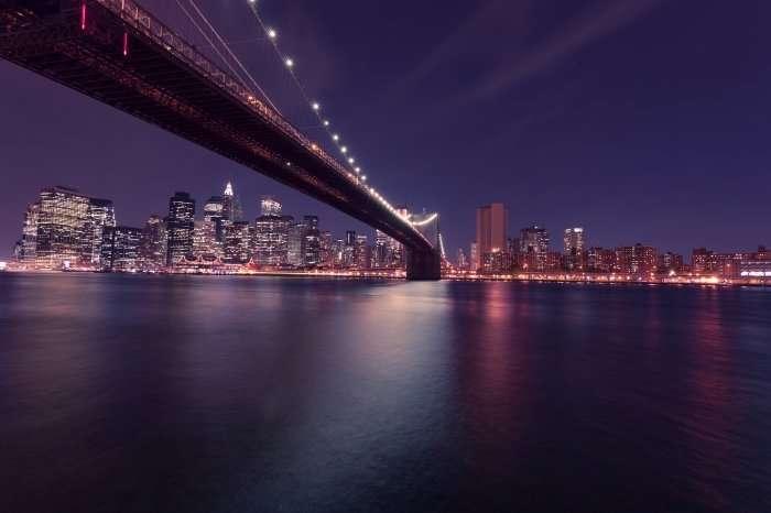 New York City skyline at night