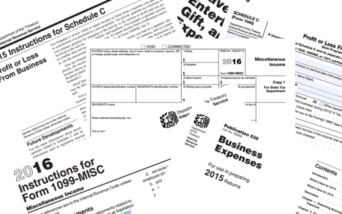 1099 and other tax forms