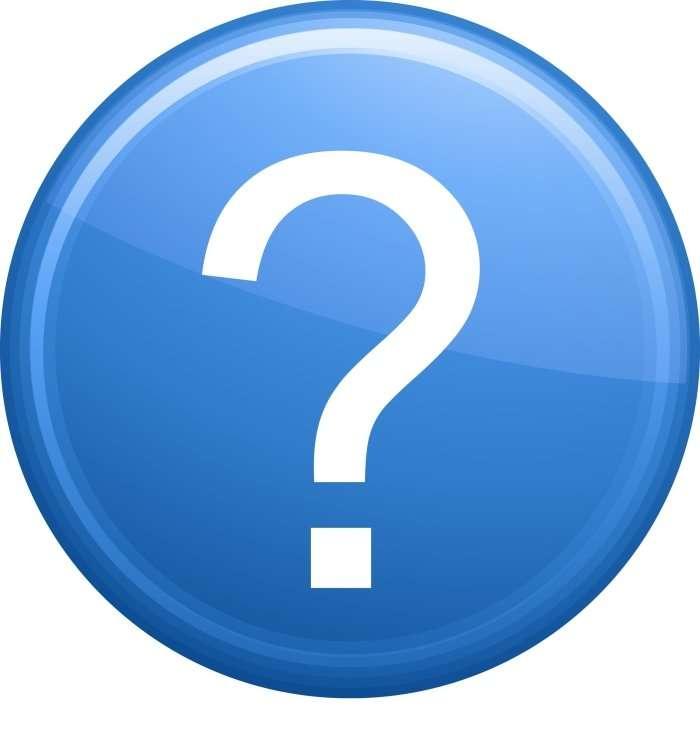 blue question mark button