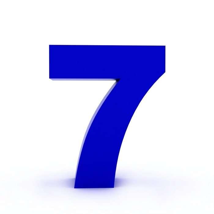 blue seven 7
