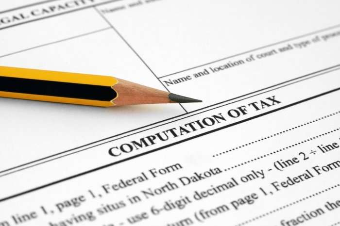 computation of tax and pencil