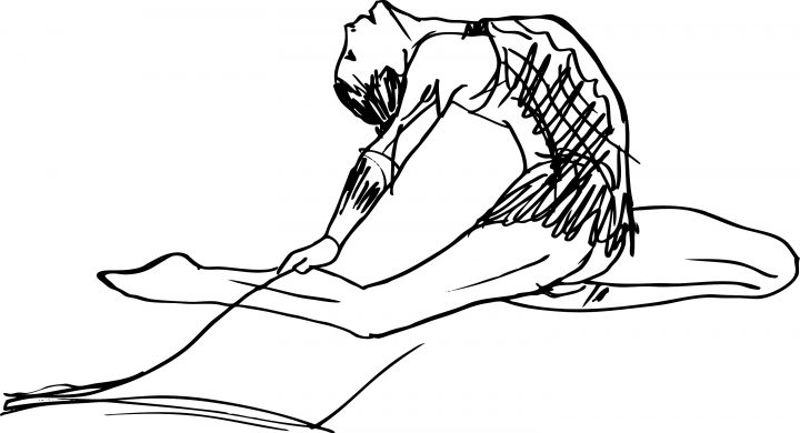 drawing or sketch of a woman dancer