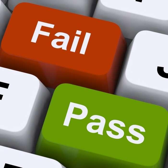 pass and fail keys on a keyboard