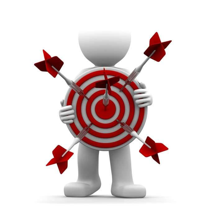 character-holding-archery-target-bullseye