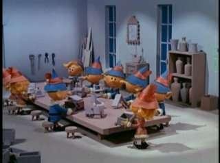 santa's elves making toys