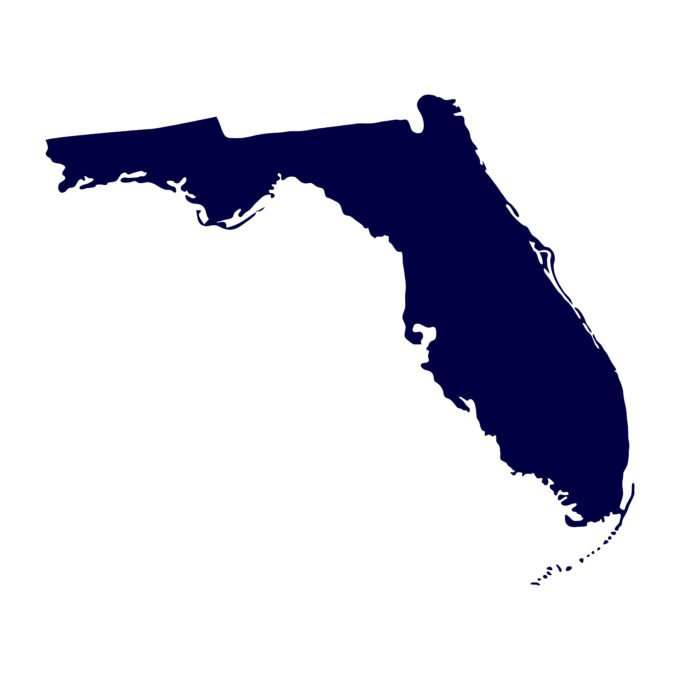 Florida blue map
