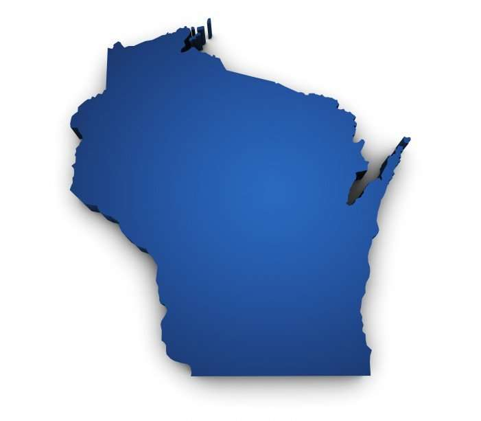 Wisconsin - blue map