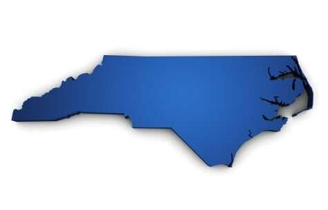 Map Of North Carolina State 3d Shape