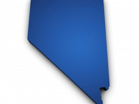 Nevada blue state map