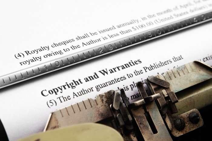 copyright on typewriter