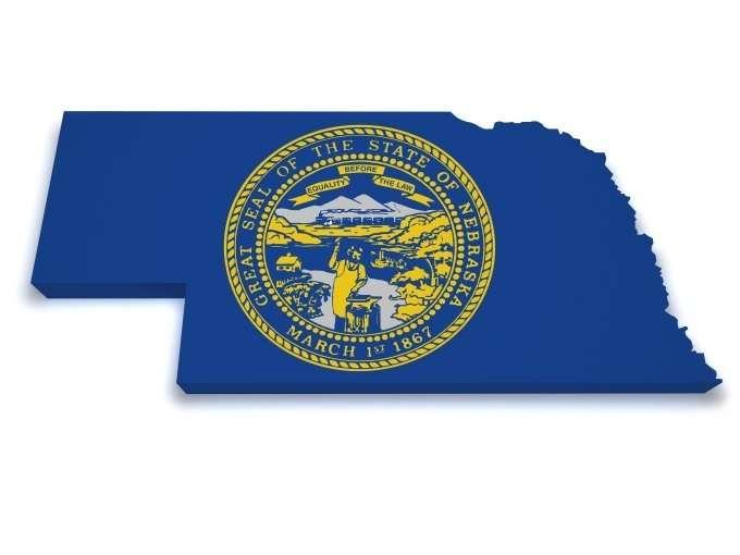 Nebraska with state seal