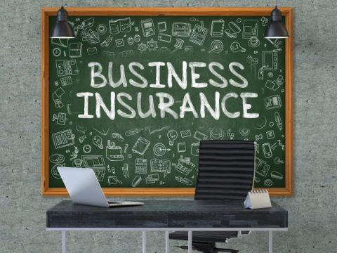 business insurance on chalkboard