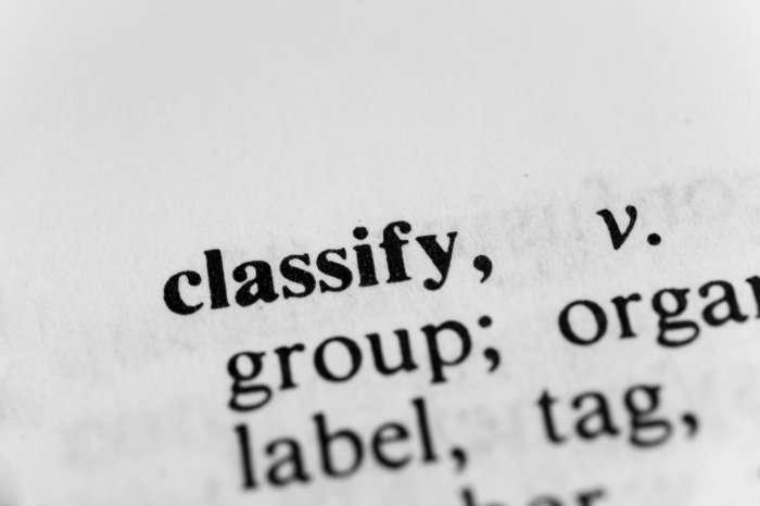 Classify definition