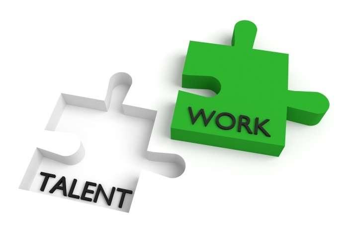 work talent puzzle pieces